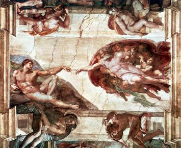 The Creation of Adam on the Sistine Chapel ceiling