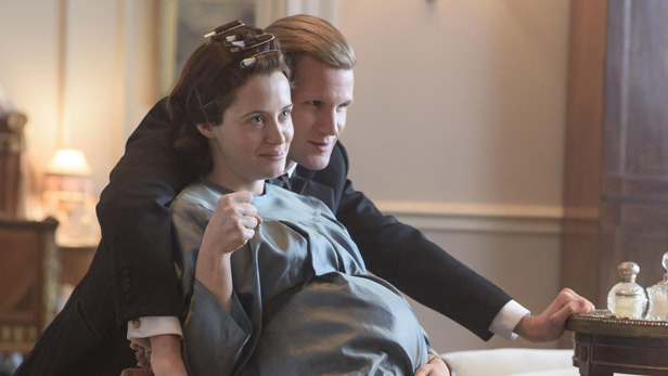 Claire Foy and Matt Smith in season 2 of The Crown