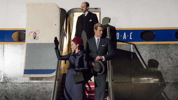 The Crown season 2 - Matt Smith and Claire Foy as Queen Elizabeth and Prince Philip