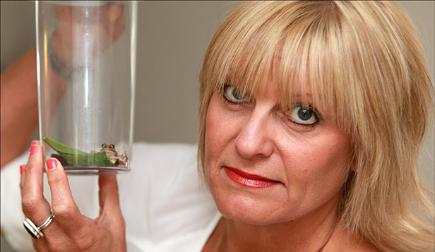 The frog found in the Waitrose bag of salad bought by Christina Carrington