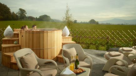 The hot tub at Fishmore Hall