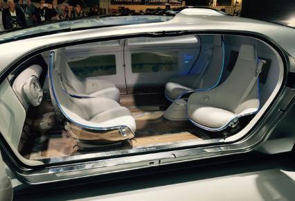mercedes reveals futuristic driverless concept car at ces bt. Black Bedroom Furniture Sets. Home Design Ideas