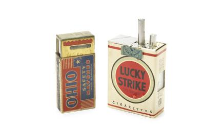 Lucky Strike box concealing camera