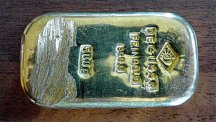 The mysterious gold bar (Bavarian police photo)