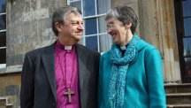 The new Bishop of Hull, Reverend Canon Alison White, with her husband, Bishop Frank White