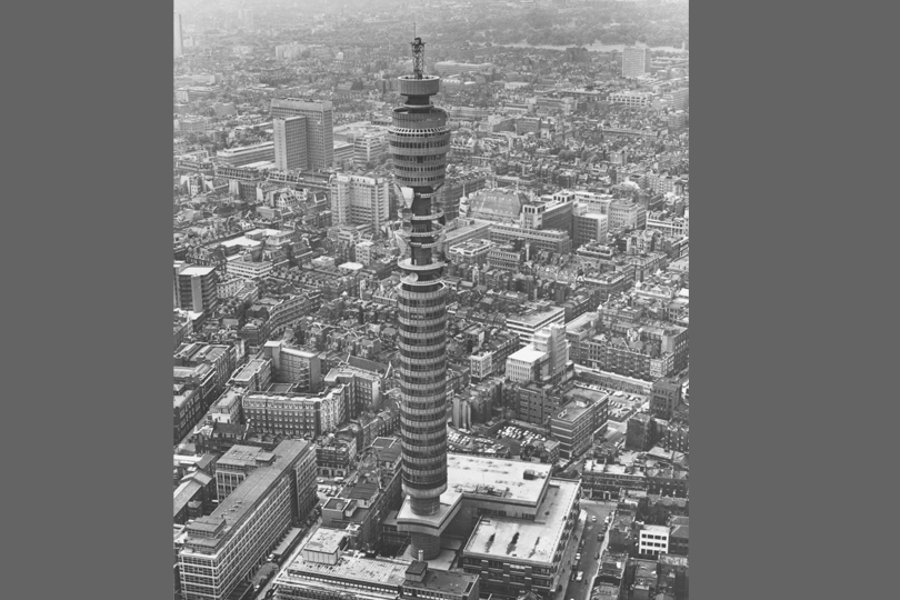 The Post Office Tower, London, 1960s.