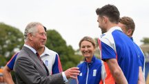The Prince of Wales meets England cricketers