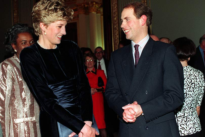 the princess of wales and prince edward chatting at a commonwealth day reception at marlborough house in march 1993 136388313516402601 140310121621 - Royal Wedding Reception Photos