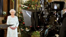 The Queen records her 2012 Christmas message to the Commonwealth