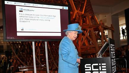 The Queen sends her first tweet