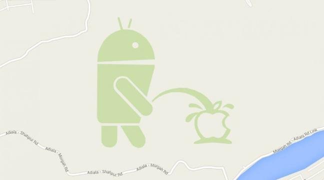 There S An Interesting New Anti Apple Easter Egg In Google Maps Bt