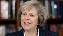 Home Secretary Theresa May launches her Conservative leadership campaign at RUSI in London