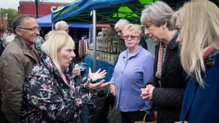 Disabled voter confronts UK Prime Minister Theresa May about benefit cuts