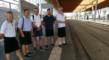 French Bus Drivers Wear Skirts to Protest Ban on Shorts