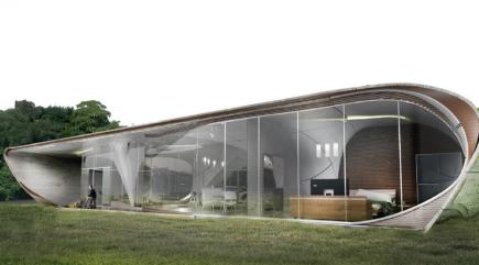 This is what the world's first 3D-printed freeform house is going to look like