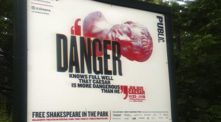 NY production draws parallels between 'Julius Caesar', Donald Trump