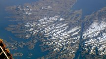 This rare cloudless photo of the Scottish Highlands taken from space is stunning