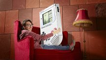 This student created the world's largest Game Boy, and it's certainly not handheld any more