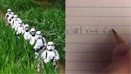 This student was studying calculus when two Star Wars themes came right out of her pencil