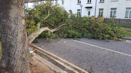 Thousands have power restored after Storm Aileen brings high winds
