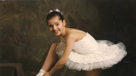 Throwback snap shows Cheryl in white tutu ahead of first ballet competition  BT TV