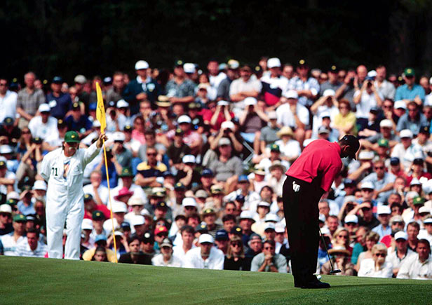 Tiger Woods during his victorious final round.
