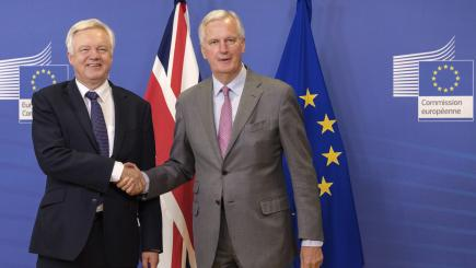 Time to get down to work on Brexit, says Davis after flying visit to Brussels