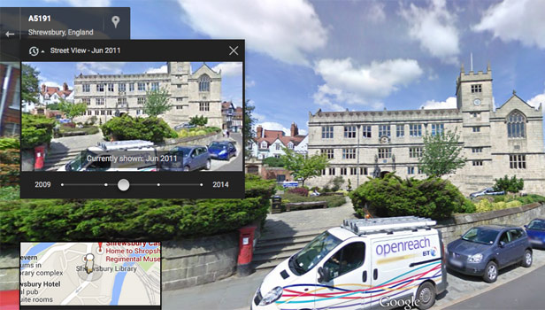 google street view shrewsbury past and present