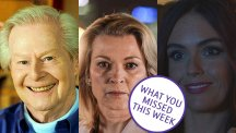 Tony Hart, Kathy Beale and Mercedes McQueen