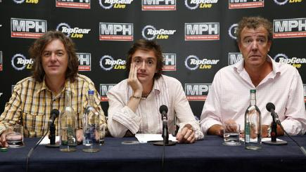 Top Gear's former hosts Jeremy Clarkson, Richard Hammond and James May
