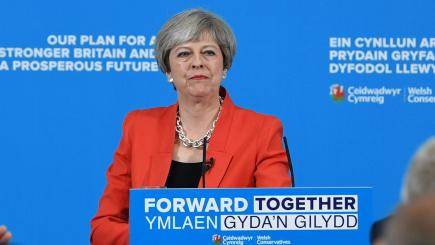 Theresa May's UK election slogan backfires