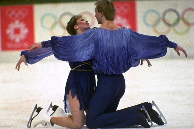 Torvill and Dean perform their Bolero routine at the Winter Olympics in Sarajevo, 1984