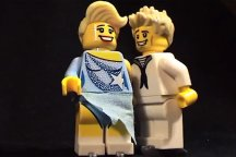 Torvill and Dean's Bolero routine recreated in Lego