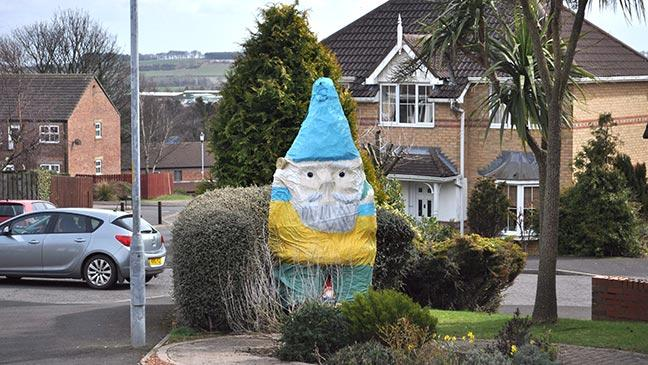 Gnome In Garden: 3 Ft Tall Garden Gnome