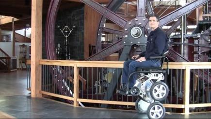 New motorized wheelchair will go up stairs