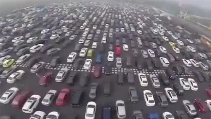 Is this the world's worst traffic jam?