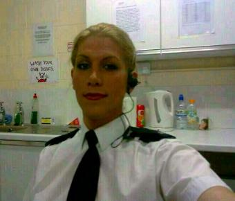 male born security guard bags dream job as female police