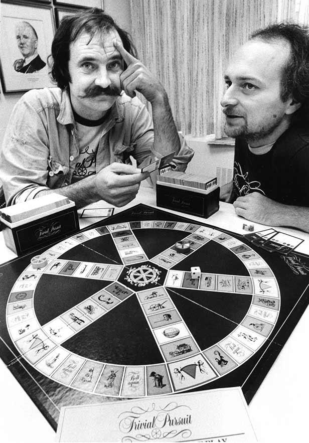 Chris Haney and Scott Abbott, inventors of Trivial Pursuit