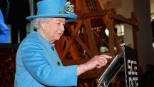 The Queen passed a technological milestone with her first tweet to declare a new Science Museum gallery open