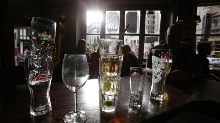 England has witnessed a 9% increase in alcohol consumption in the past two decades