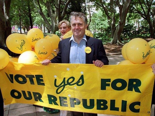 Australian Republican Movement Chief Malcolm Turnbull ahead of the referendum.