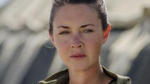 Lacey Turner plays a medic deployed to Afghanistan in Our Girl