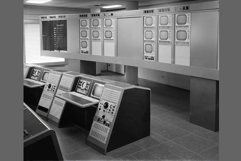 TV switching centre, BT Tower, 1964
