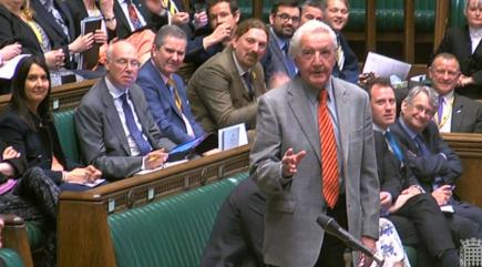 "Twitter picked up where Dennis Skinner left off after his ""dodgy Dave"" jibe"