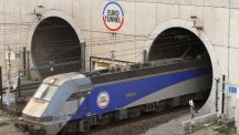 Two men were arrested in Folkstone after walking through the Channel Tunnel from Calais