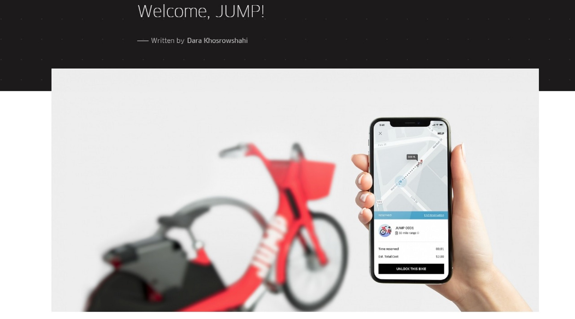 Uber Acquires Cycle-Sharing Startup JUMP Bikes