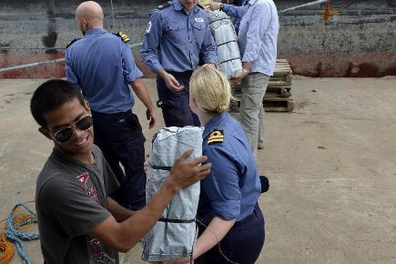 UK aid reaches typhoon victims
