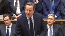 Prime Minister David Cameron addresses the Commons