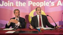 Ukip leader Nigel Farage (left) with Douglas Carswell