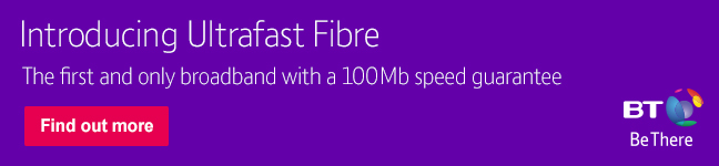 NEW Ultrafast Fibre is the first and only fibre broadband with a 100 mbps speed guarantee